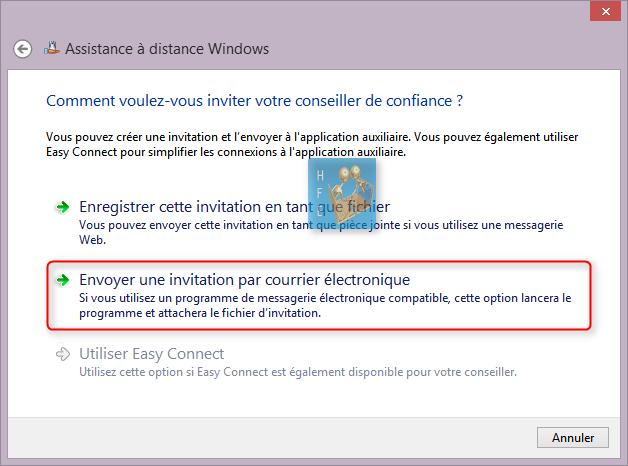 envoyer sur bureau windows 10